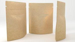 paper packaging 3D model