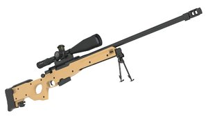 3D awp awm sniper rifle model