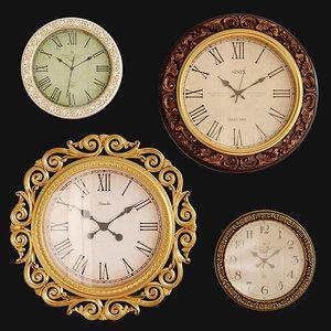 3D model clock royal sinix