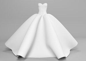 wedding dress 3D
