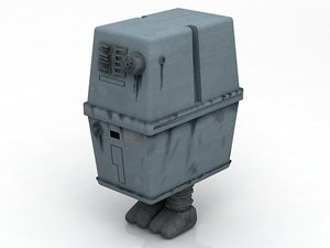 3D gonk star wars character model