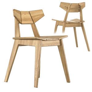 3D model facet chair