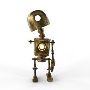 robot gold 3D model