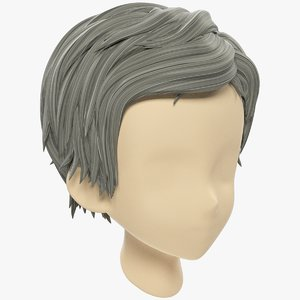 stylized hair mannequin 3D