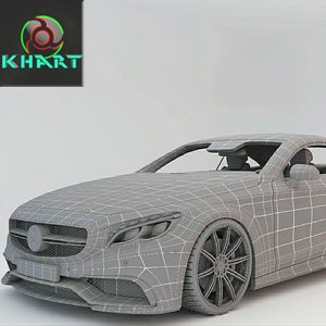 3D mercedes-benz s-class coupe model