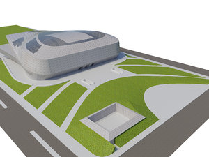baku congress hall 3D model