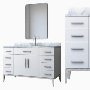 italia single extra-wide vanity 3D model