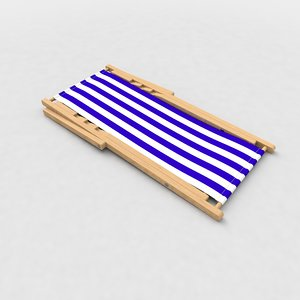 beach folded chair deck model