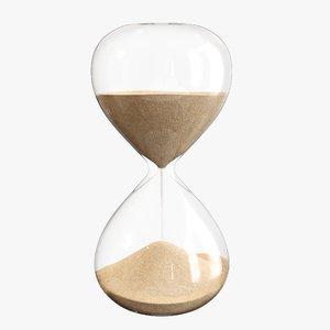 3D time hour sand