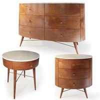Dresser, bedside table by West Elm. Acorn, Penelope.
