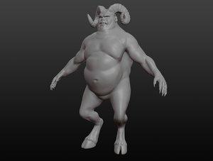 creature character demon 3D model