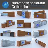 Front Reception 3D Desk Collection