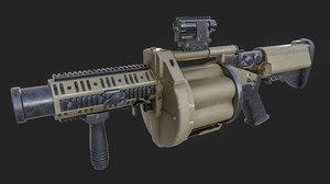 3D milkor multiple grenade launcher