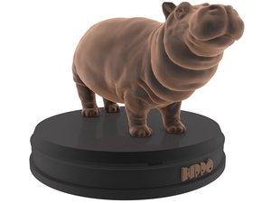 3D model print hippo