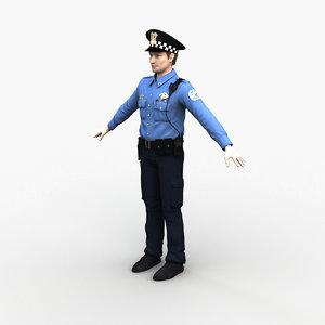 character police officer 0073 3D model