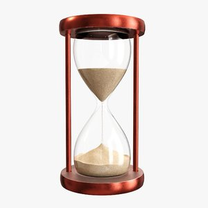 3D time hour sand model