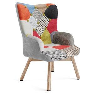 armchair patchwork 3D model