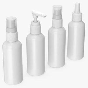 cosmetic containers 100 ml 3D model
