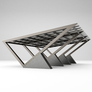 carport car metall 3D model