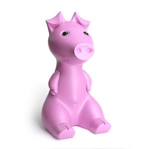gullgris piggy bank pink model