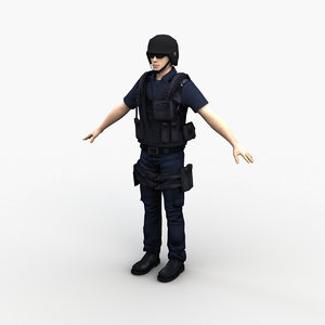 3D character police officer