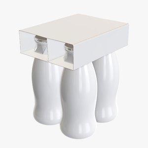 plastic packaging cardboard 3D model