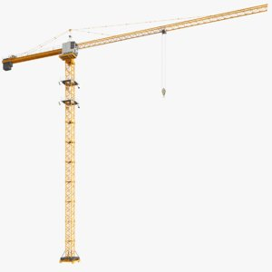 3D real construction crane tower model