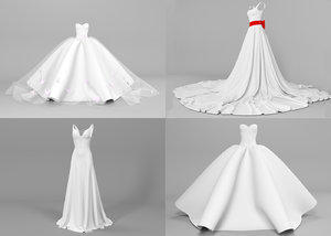 3D model wedding dresses