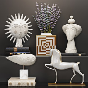 decoration set sculpture 3D model