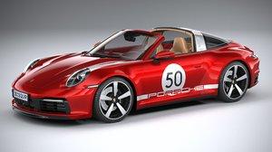 porsche 911 targa 3D