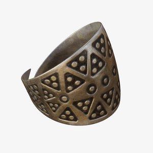 3D viking ring model