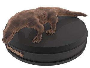 3D print komodo dragon