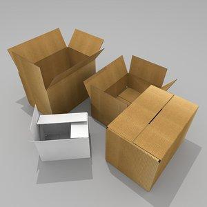 cardboard box model
