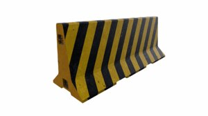 3D traffic concrete barrier