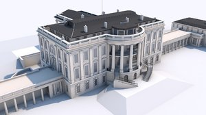 white house washington 3D