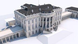 white house washington 3D