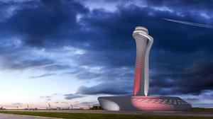 3D model airport air