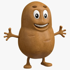 3D potato cartoon toon