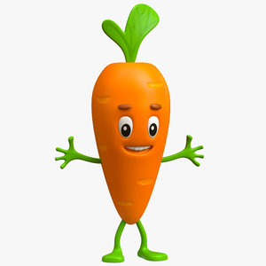 carrot cartoon toon model