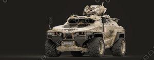 3D military tiger 2030 model