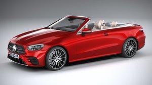 mercedes e-class cabriolet 3D model