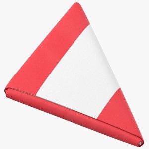 3D flag folded triangle austria model