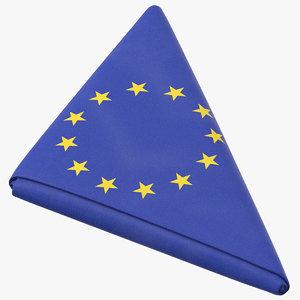 flag folded triangle eu model