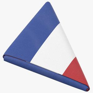 3D flag folded triangle netherlands model