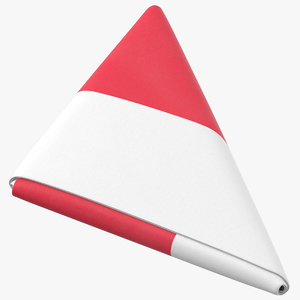 flag folded triangle poland 3D model