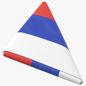 flag folded triangle russia model