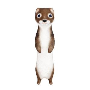 3D cute weasel