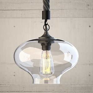 hanging lamp 5 loft 3D model