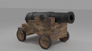 3D pirate cannon