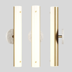 3D counterweight circle sconce